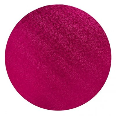 "Pack of 5 10"" Round Cerise Cake Drums"
