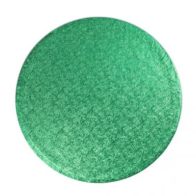 "Pack of 5 8"" Round Green Cake Drums"