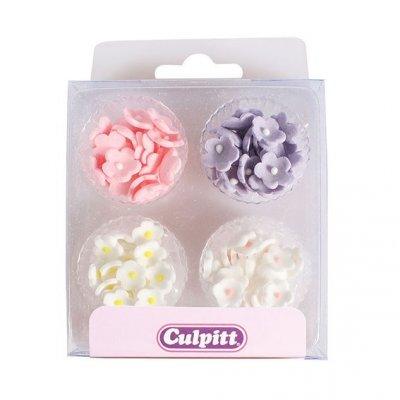 Mini Flowers Assorted Colours Sugar Pipings Pack of 100