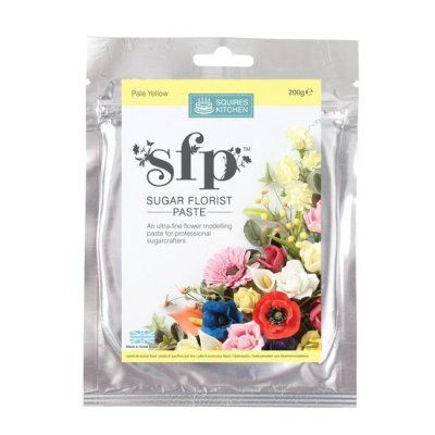 200G Pale Yellow Squires Kitchen Florist Paste