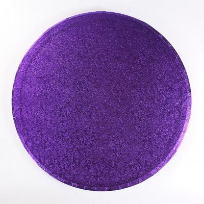 "Pack of 5 12"" Round Purple Cake Drums"