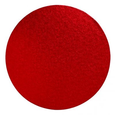 "Pack of 5 8"" Round red Cake Drums"