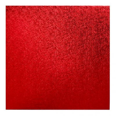 "Pack of 5 14"" Square Red Cake Drums"