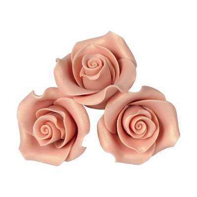 Sugar Soft Edible Rose - Rose Gold 38mm Pack of 20