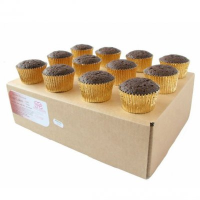 Large Ready Made Chocolate Cupcakes - Box of 24