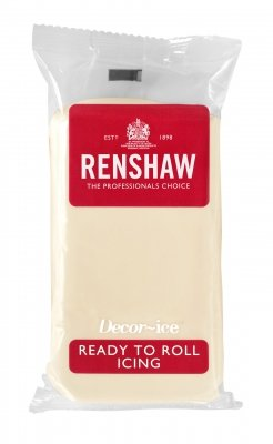 Renshaw 250g White Chocolate Flavoured Ready to Roll Fondant Icing