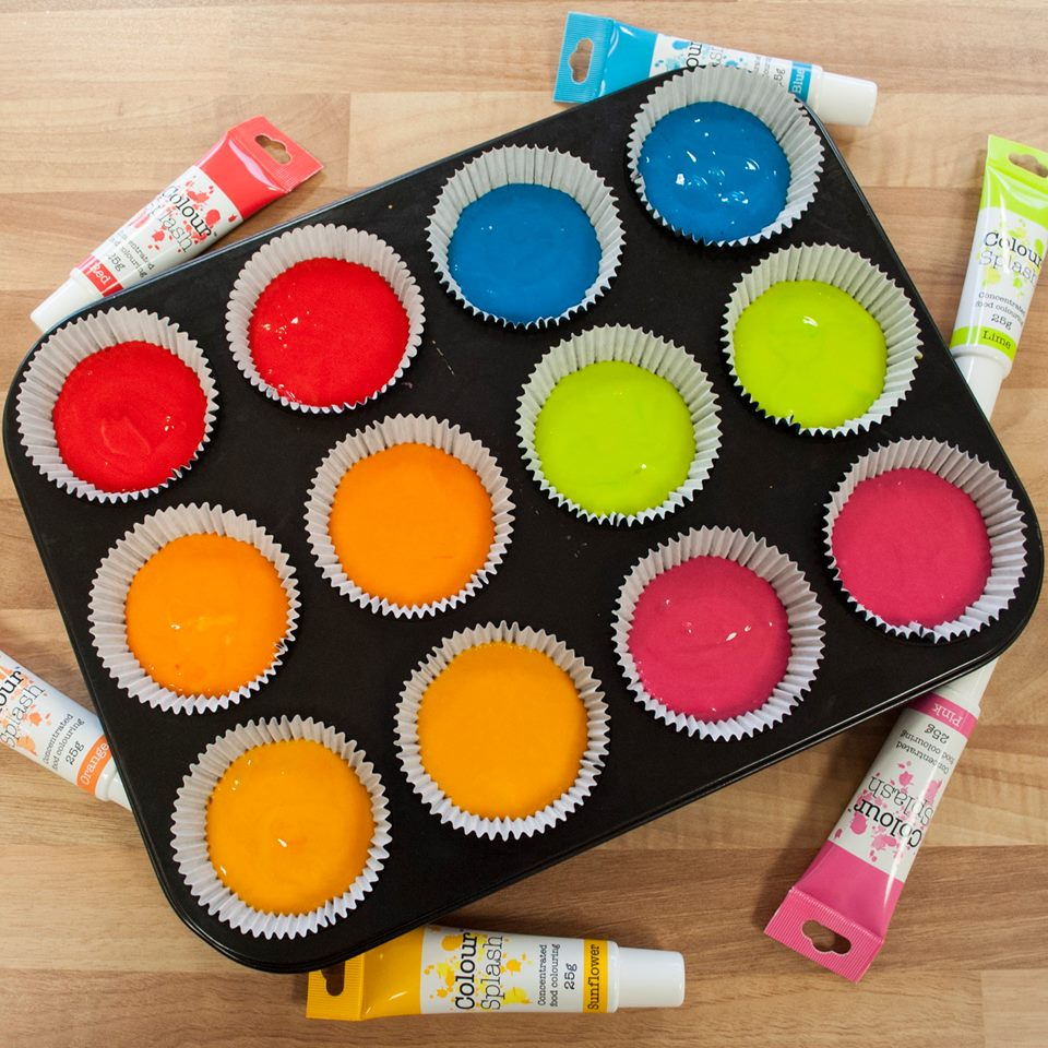 Cake decorating colourings