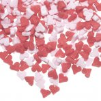 Culpitt Edible Mini Heart Sprinkles - Pink/Red BB 19th APRIL 18