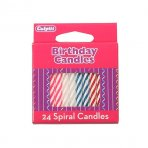 Culpitt spiral candle multi - 24 piece