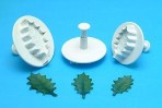PME Veined Holly Leaf Plunger Set Larger Size