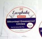 EASYBAKE 10 Inch Tin Liners Greaseproof circles