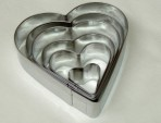 Windsor Small Heart Cookie Cutters Set Of 6