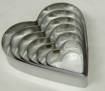 Windsor Large Heart Cookie Cutters Set Of 6