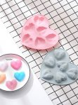 Geometric Heart Chocolate Mould 6 Cavity
