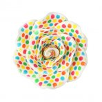 Gumpaste Single Rose Multicoloured Spot
