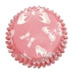 CULPITT Blush Butterfly Printed Cupcake Cases