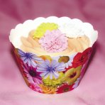 Summer Blooms Cupcake Wrappers