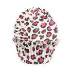 Pink Leopard Print Cupcake Cases Pack of 25