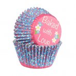 Baked with Love Ditsy Daisy Foil Lined Baking Cases 25 pack