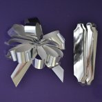 Purple Cupcakes Quick Pull Bow - Silver