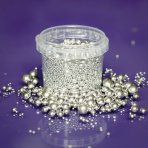 Purple Cupcakes Mix Silver Pearls 2 - 10mm