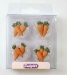 Carrot Sugar Pipings Pack of 12