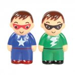 Plastic Superheros Cake Toppers Set of 2