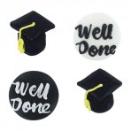 Graduation Sugar Icing Toppers Pack of 12