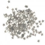 Sugarflair Metallic Silver Star Sprinkles 3g