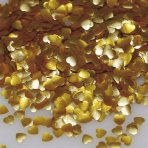 Rainbow Dust Edible Glitter Gold Hearts