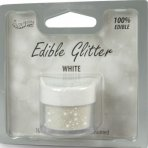 Rainbow Dust Edible Glitter White 5g