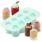 Wilton 8 Cavity Silicone Round Shot Glass Mould