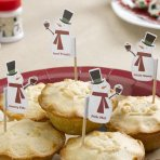 Mince Pie/Cupcake Sticks - Snowman - Pack of 20