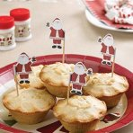 Mince Pie/Cupcake Sticks - Father Christmas - Pack of 20
