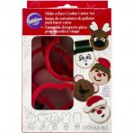Wilton Make-a-Face Christmas Cookie Cutter Set
