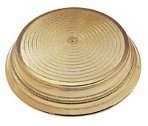 Napier Round Plastic Cake Stand 406mm (16'') - Gold