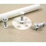 PME Mini Snowflake Plunger Cutter - 3 Set