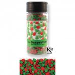 PME Red and Green Christmas Trees Sugar Cake Topper Decoration