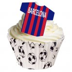 Wafer Football Shirt Toppers, Barcelona (Pack of 12)