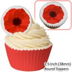 Poppy Wafer Toppers 12 Pc