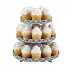 Wilton 3 Tier Damask Cupcake Stand Holds 24 Cupcakes