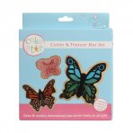 Cake Star Cutter & Texture Set - Butterflies