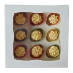 White 9 Hole Mini Cupcake Box