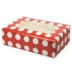 Red Polka Dot Cupcake Box Holds 6