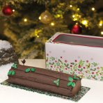 Holly Log Box & Card 12''
