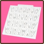 Katy Sue Design Mat - Alphabet Bunting