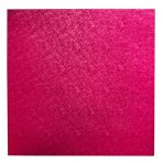 "Pack of 5 8"" Square Cerise Cake Drums"