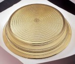 Napier Single Tier Round Cake Stand 355mm (14'') - Gold