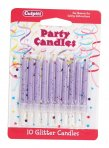 Lilac Glitter Candle Pack of 100