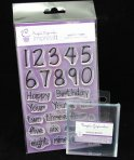 Purple Cupcakes Impressit - Birthday Numbers & Ages *Including Acrylic Block*